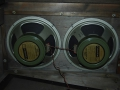 Jennings AC40 stack, open back met 2x12 inch Rola Celestion G12H speakers 30 watt, 16 ohm.