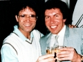 Cliff Richard and Alan Jones in the eighties.
