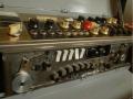 Meazzi Factotum All Transistor Type 440 Stereo, met 7 weergavekoppen waarvan kop 1tm 5 bediend met 5 switchen icm Halo toets.