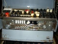 Meazzi Factotum All Transistor Type 440 Stereo. Schuin geplaatst front, Lisence SEP = Fabrikaat Società Elettronica Palomba (Milaan). Met 7 weergavekoppen.