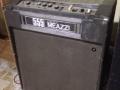 Meazzi 555 Transistor 1974 35 w rms met ingebouwde echounit, cabinet met 4x10 inch 8 ohm speakers.