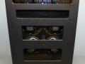 Meazzi Olimpia 555 transistor 1974 35w rms, open back met 4x10 inch alnico speakers 8 ohm.