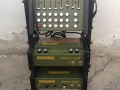 Meazzi emThree Minimax Mixer, Computer Echo en Power in rack, green, fabrikaat Calderoni 1970.