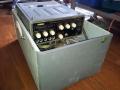 Meazzi Echoamateur PA296 met metalen behuizing, in originele speakerbox-opbergkoffer, top.