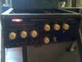 Meazzi Echoamateur PA296 met metalen behuizing op originele speakerbox-opbergkoffer.