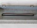 Meazzi PA304-PA306-PA316, metalen frontdeksel binnenkant met reservetape op de exacte lengte van 42,8 cm aan de nokjes.