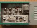 Meazzi PA306 groen met deksel, effectvariator in midden, 6e kop naar onderen verplaatst, trafo geventileerd.