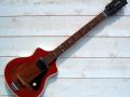 Meazzi Alpha gitaar 1 pickup 1961-1964 Sparkle Red, front.