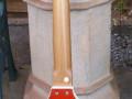 Meazzi Alpha gitaar 1 pickup 1961-1964 Sparkle Red, back.