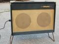 Meazzi Concertorama 15 watt buizen combo 1964 op stand, front, gemodificeerde mains aansluiting.