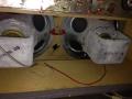 Meazzi Concertorama buizen versterker met aangebouwde echo, 2 speakers.