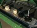 Meazzi Concertorama eind vijftiger jaren, voltageselector, master volume control, aansluiting preamp / bedieningsunit.