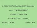 1984 maart 4e Harmonie ticket middag.