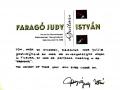1986 april 8e in De Harmonie, van de LP hoes van Faragó Judy István (1944-2003).