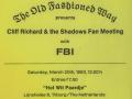 1993 maart 24e in Het Wit Paardje, ticket middag.