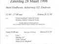 1998 maart 34e Eindhoven NL.