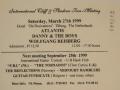 1999 maart 36e De Druiventros, ticket middag.