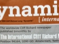 Cover fanclubblad van de Nederlandse Cliff Richard Fanclub Dynamite.