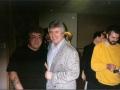 1996 maart 30e Motel Eindhoven. Bruce Welch van The Shadows bezoekt de 30e Meeting in Motel Eindhoven. Hier met de slaggitarist van de Tilburgse Rockin' Birds.