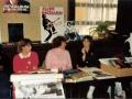 Leden van de Duitse Cliff fanclub, in het midden voorzitter Eva Opalka.