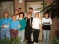 Ton met zijn 2 tiener dochters en een vijftal Hongaarse logees.