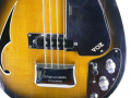 V248 Wyman Bass Tobacco Sunburst 2 pickups 1966, UK model, afdekplaat kam.