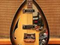 V248 Wyman Bass Tobacco Sunburst 2 pickups 1969, UK model, body.