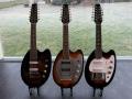 V257 Mando Guitar Prototype 1965, Britse versie 1966 en Italiaanse EKO versie 1967. Unieke 12 snarige Scort Scale gitaren gebruikt door The Beattles en The Rollings Stones.