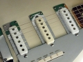 V222 Vox Mark VI Teardrop Special actieve guitar met extra push-buttons (Treble, Bass, Top Boost, Mid Boost, Fuzz, Repeat). UK model.