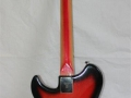 Burns Split-Sound 6 string Red Burst Bass-Baritone gitaar 1962, back.
