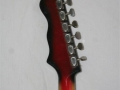 Burns Split-Sound 6 string Red Burst Bass-Baritone gitaar 1962, headstock back.