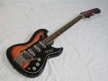 Burns Split-Sound 6 string Red Burst Bass-Baritone gitaar 1962, serie van 20 stuks afgeleid van de Jazz Split Sonic gitaar.