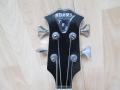 Burns TR2 Semi acoustische bass 1963, headstock front.