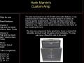 Beschrijving van de Hank Marvin Signature Custom Shop Amp wat betreft techniek, proces en marketing.