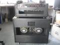 Denis Cornell Prototype Hank Marvin Amp, back met 2 verschillende Custom 12 inch speakers.