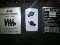 JMI 50th Anniversary AC30 T, back met Top Boost Module, JMI label en typeplaatje.