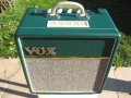 2012 Vox AC4C1-BRG British Racing Green. Tygon grillcloth, made in Vietnam, Celestion speaker VX10 10 inch.