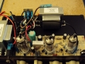 2014 AC4C1-TV zicht op techniek, 1 EL84, 2 ECC83, diode gelijkrichter.