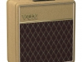 2016- Vox AC4C1 Limited Edition Tan Bronco Tolex. 4 watt power, ECC83 en EL84, Celestion VX10 speaker 16 ohm.