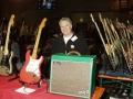 Mojo Amp 15 watt buizen van Roberto Pistolesi op een show in Milaan.