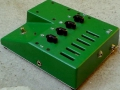 Mojodrive van Roberto Pistolesi, tube overdrivedistortion pedal, back.