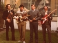 Guitar Syndicate 1982, vlnr Pol Huysmans, Marc Vandermeulen, Piet Van Maercke en Robin Timmerman.