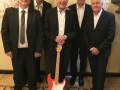 Guitar Syndicate Jubileum 35 jaar 2018 in Götheborg, vlnr Rudi Demaere, Edwin Musch, Robin Timmerman, Jos Gilles, Jacques van Hulle.