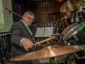 Reunie Back to Tilburg, middagoptreden Guitar Syndicate, Rudi (drums).