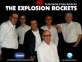 The Explosion Rockets. Vlnr Hank van Empel, Joost Roest, Ruud Kuypers, Frans van Esch, Martien van Engelen en Nestor van de band Thom Sens.