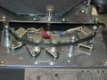 Roland Space Echo RE-150, van links naar rechts wiskop, opnamekop, 1e weergavekop, blank, 2e weergavekop.