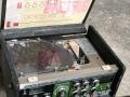 Roland Space Echo RE-201, later model, open met gaten voor schroefbevestiging kap en pvc tapedeksel,