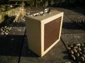 Vox AC10 TV Front Square Edge Cream 12 watt medio 1960, zijaanzicht.