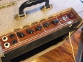 Vox AC10 Split Front Fawn 1962 Red Panel, plastic handle, top.