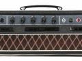 Vox AC10 Super Reverb Twin 1964 slant-top head, front.